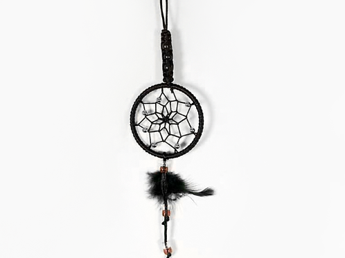 Braided Dream Catcher Black 7cm