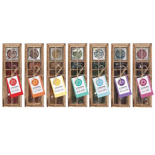 Chakra Wooden Incense Gift Box Sets