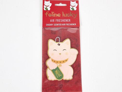 Feline Lucky Cat Air Freshener, Cherry Scented, Car Air Freshener, Home Air Fres