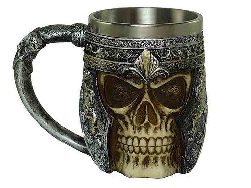 Armoured Skull Face Tankard Mug