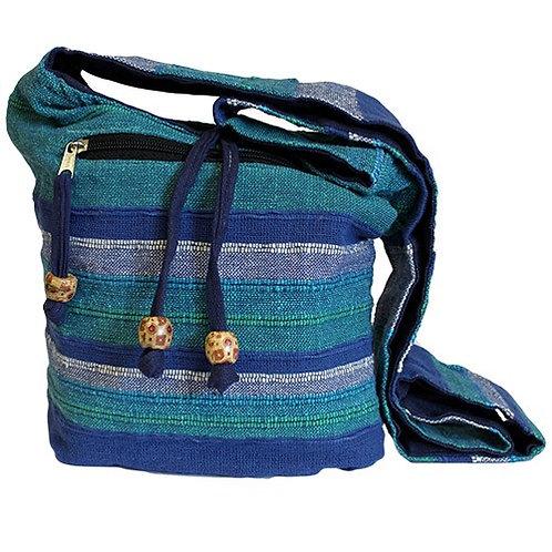 Blue Shoulder Bag, Eco Friendly Sling Bag