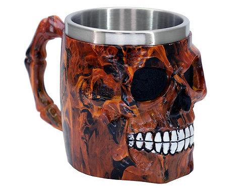 Red Skull Face Tankard Mug