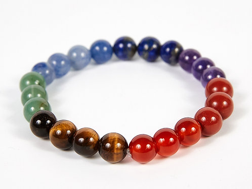 Round Beads Decorative Seven Chakras Bracelet
