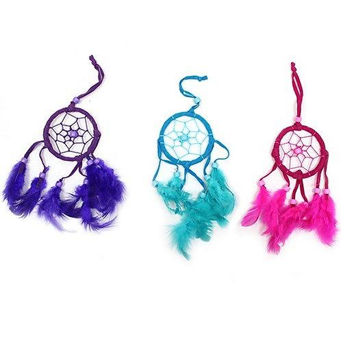 Small Bali Dream Catcher, Pink, Purple, Turquoise