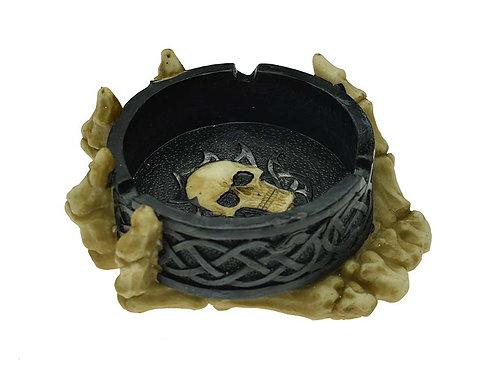 Decorative Skull Hand Bones Ashtray, Ash Tray