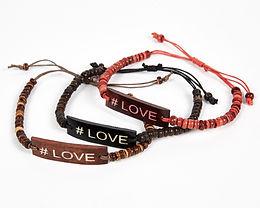 #Love Adjustable Beaded Friendship Bracelet