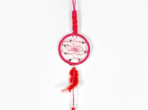 Braided Dream Catcher Red 7cm