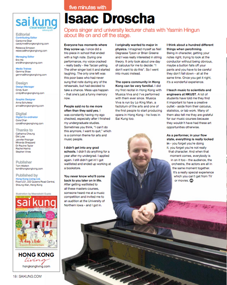 Professor Droscha featured in Sai Kung Magazine!