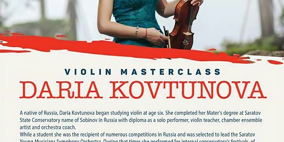 Daria Kovtunova presents a masterclass