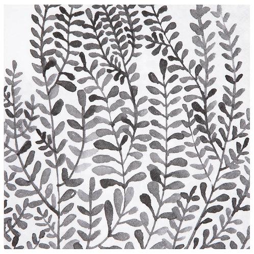 Serviette en papier feuilles noires
