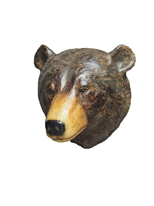 Tête d'ours murale