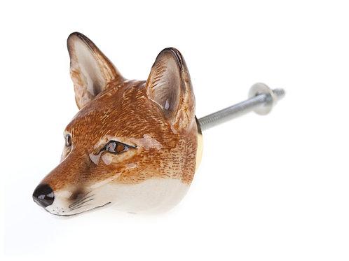 Bouton de meuble renard