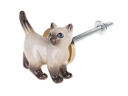 Bouton de meuble petit chat