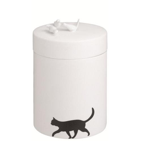 Pot chat oiseaux