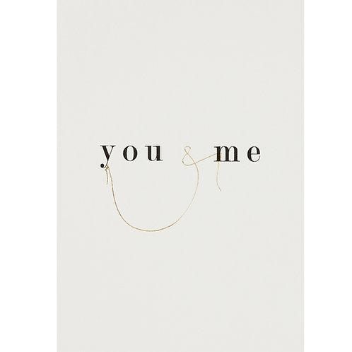 Carte postale you & me