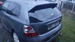 Honda Civic - 5% Limo Black Rear