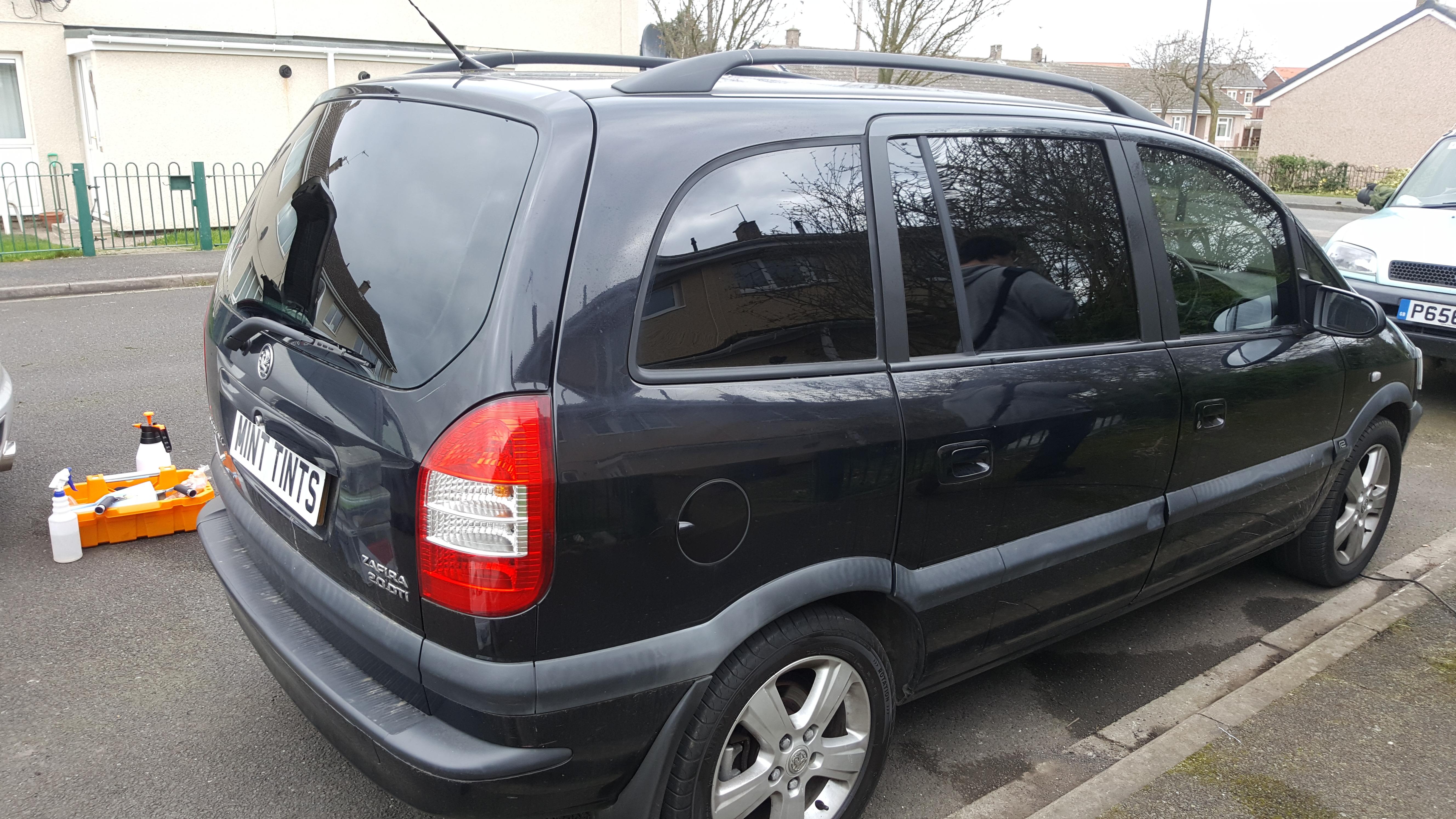 Vauxhall Zafira - 5% Limo Black Tint