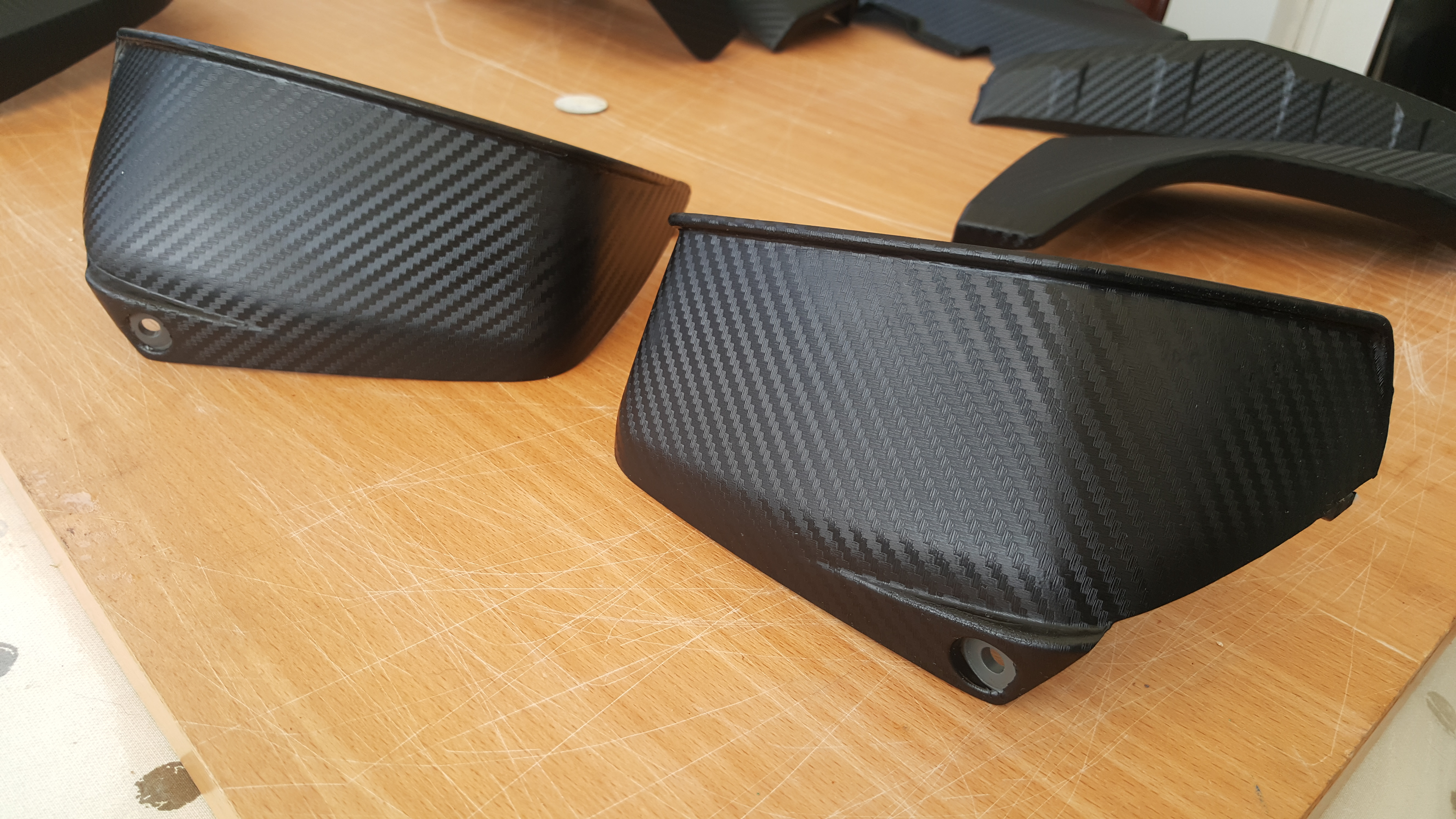 BMW GS1200 Carbon Fibre Wrapped Part