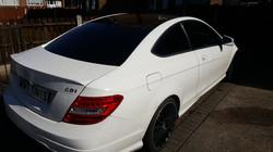 Mercedes C250 - 20% Dark Smoke Tint