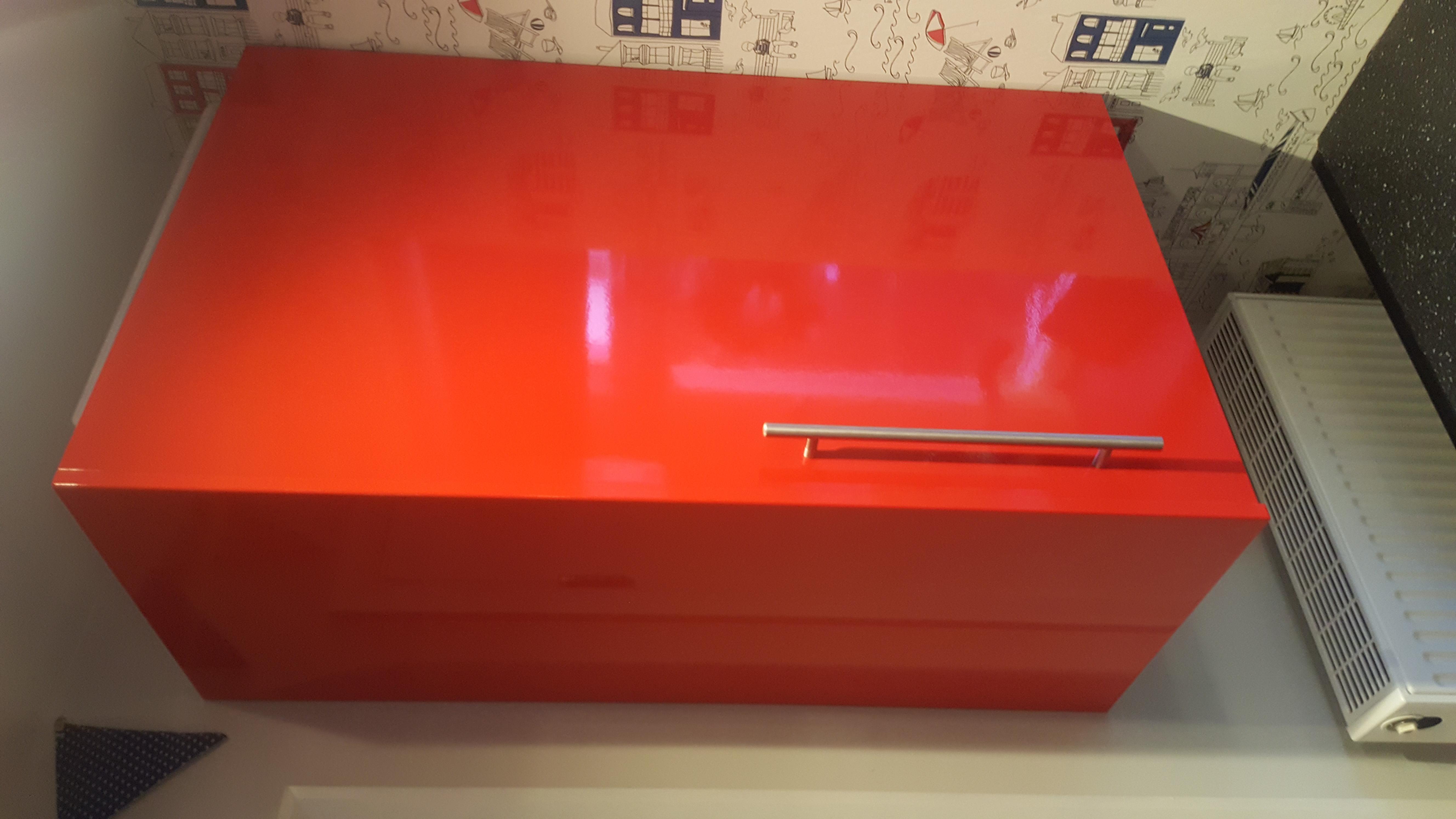 Red Gloss Kitchen Vinyl Wrap