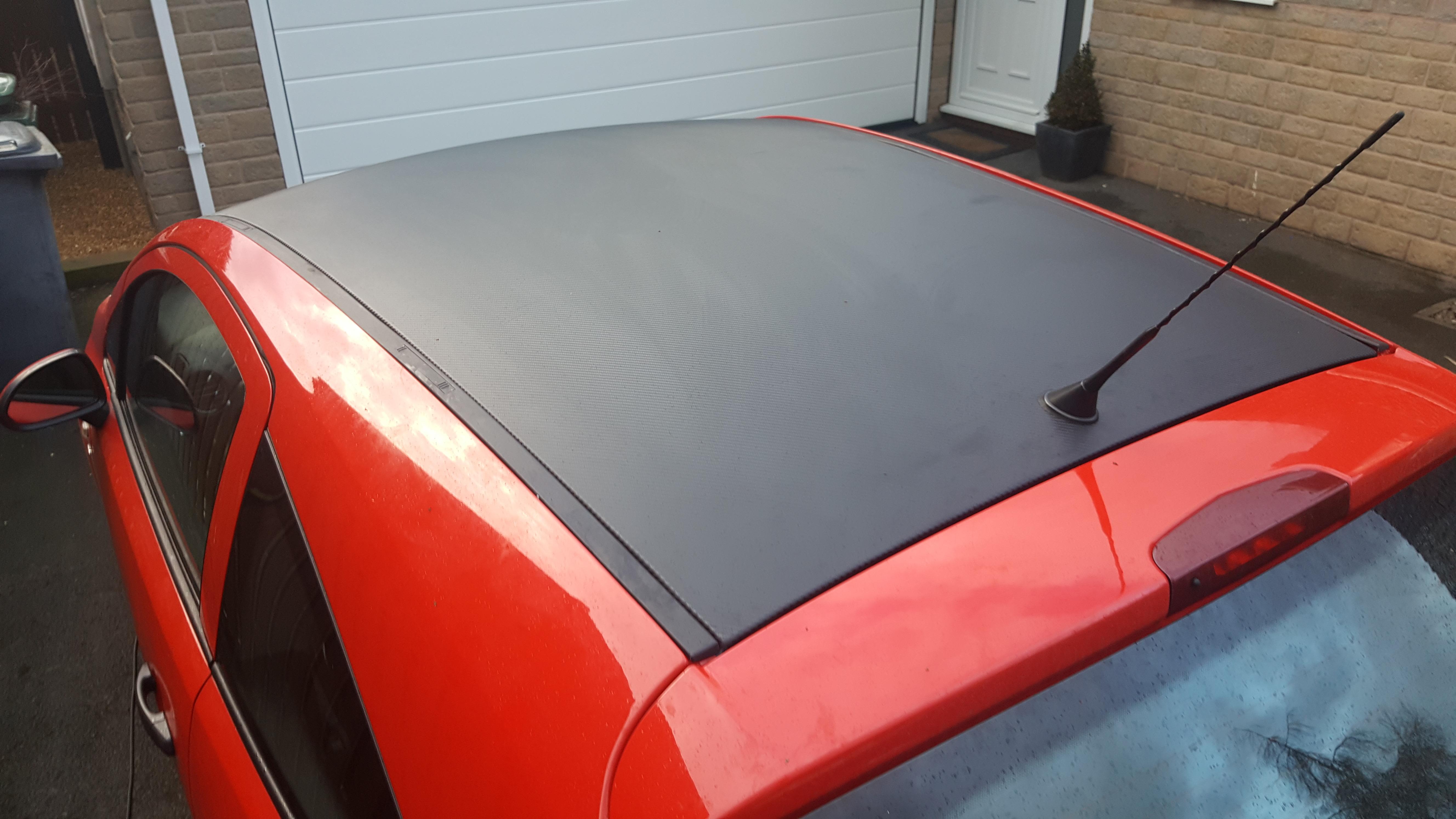 Vauxhall Corsa Carbon Roof Wrap