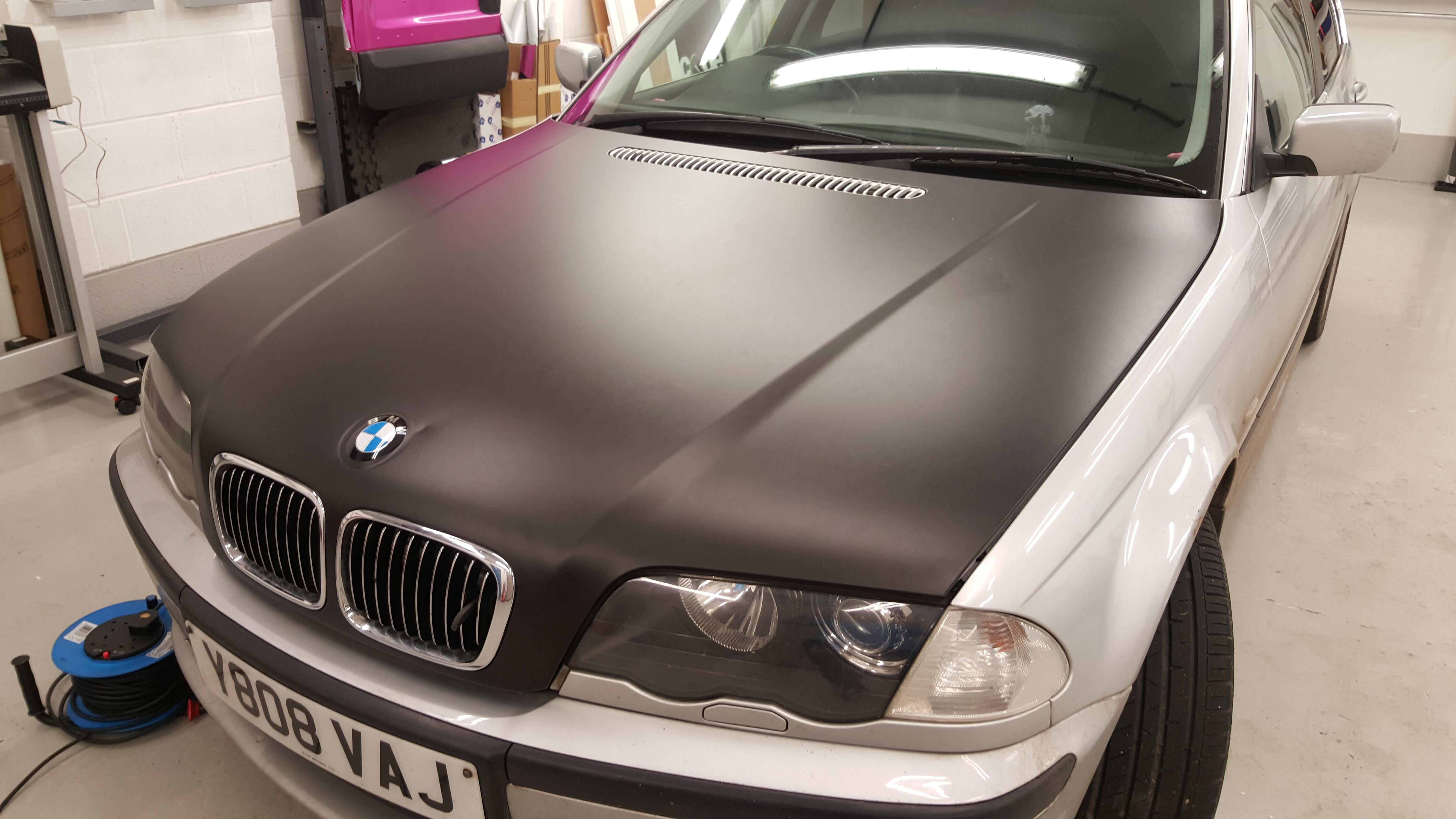 Bonnet wrapping (matt black)