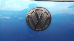 Rear Volkswagen Badge Wrap