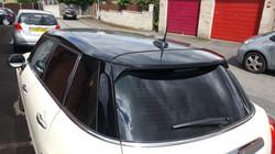 Mini One Hexis Gloss Black Roof Wrap