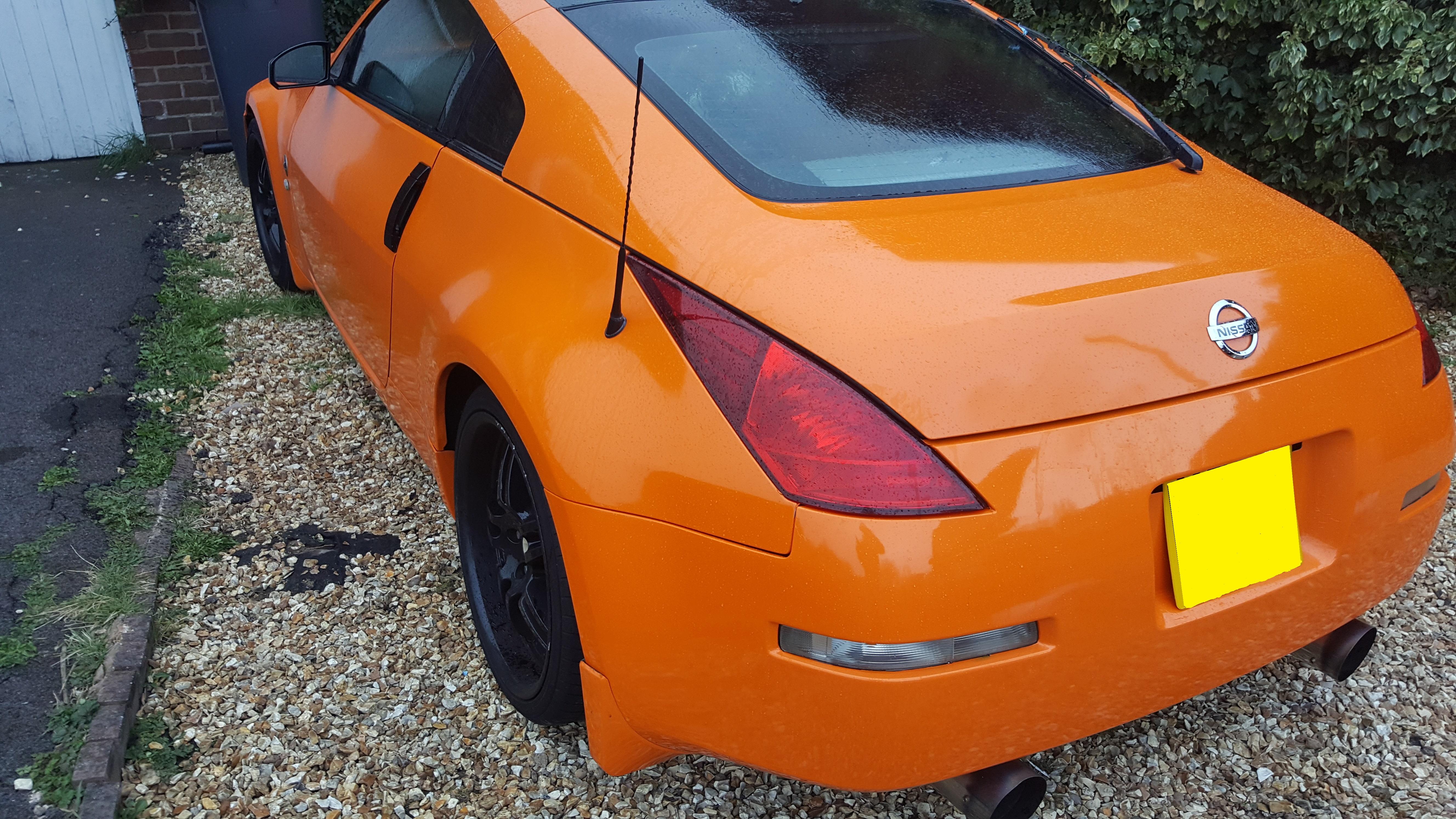 Nissan 350z Rear Bumper Wrap