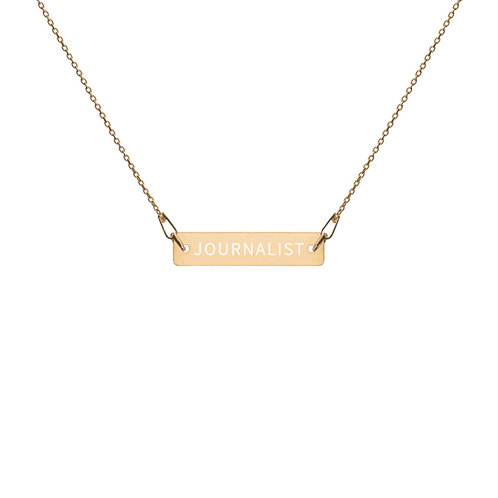 JOURNALIST ENGRAVED NECKLACE