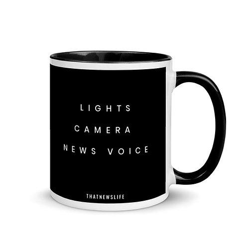 LIGHTS, CAMERA, NEWS VOICE MUG