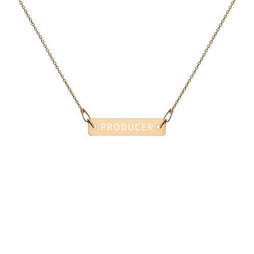 PRODUCER ENGRAVED NECKLACE
