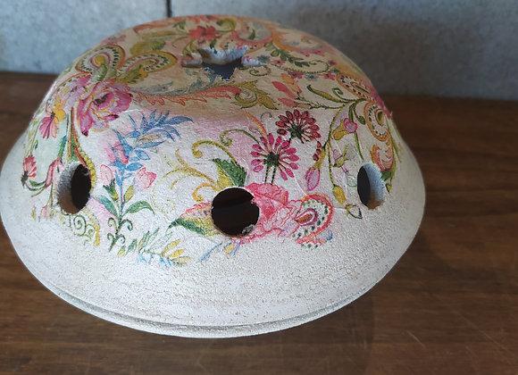 Espiralero Grande Decorado flor vintage