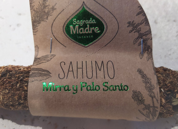 Sahumo Sagrada madre Mirra y Palo Santo