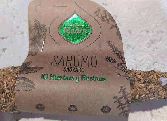 Sahumo Sagrada Madre 10 hierbas y resina