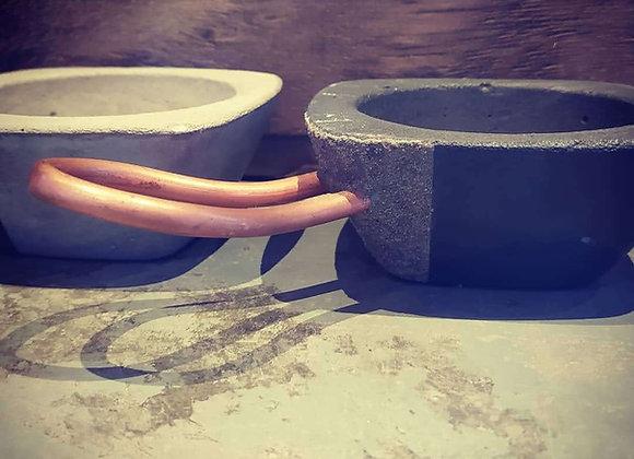 Defumador cemento con mango de cobre