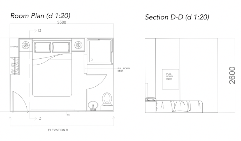 ROOM PLAN AND SECTION