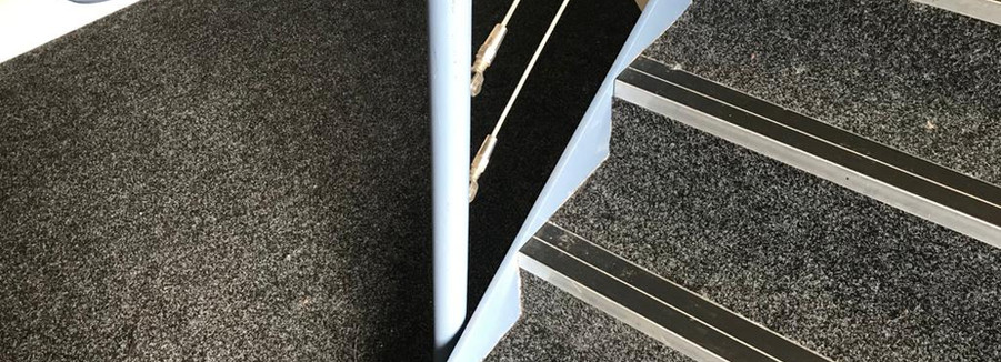 Contract carpet and nosings fitted to staircase