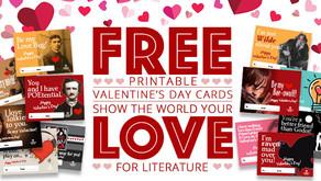 12 Free Printable Literary Valentine's Day Cards