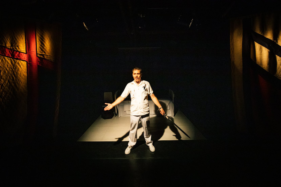 Narrator The Orderly Speech of Fire and Seoul Shakespeare Company Photo by Robert Michael Evans 2019