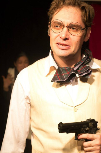 Major Magnus Muldoon The Real Inspector Hound Seoul Players Photo by Kyle Johnson 2013