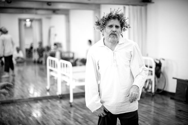 King Lear King Lear rehearsal Seoul Shakespeare Company Photo by Robert Michael Evans 2019