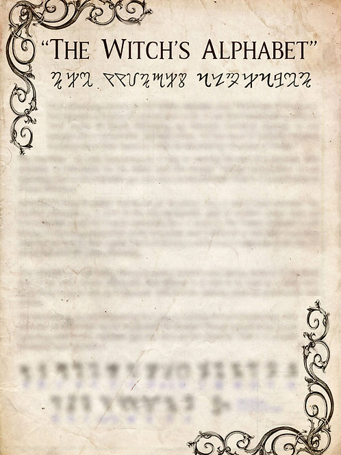 Book of Shadows Pages - The Witch's Alphabet