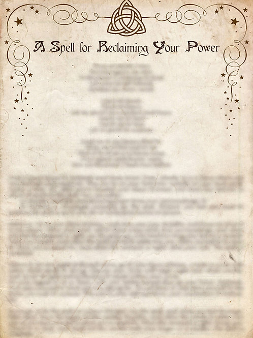 Book of Shadows Pages - A Spell for Reclaiming Your Power