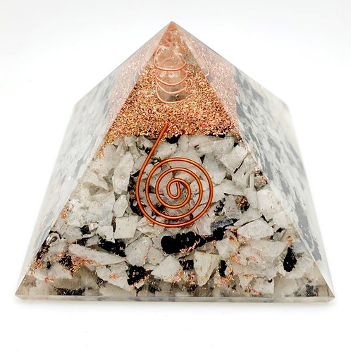 "3.5"" Moonstone Spiral Orgonite Pyramid"
