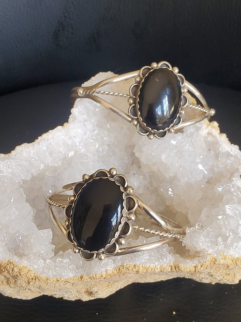 Blank Onyx Sterling Silver Bracelet
