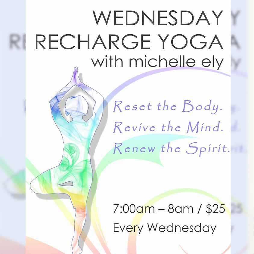 Wednesday Recharge Yoga the 26th
