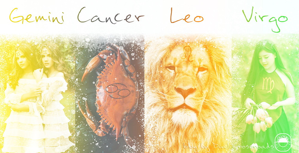 Gemini Cancer Leo Virgo zodiac signs