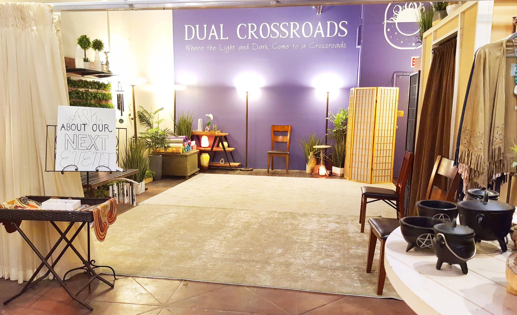 Dual Crossroads Back of Store