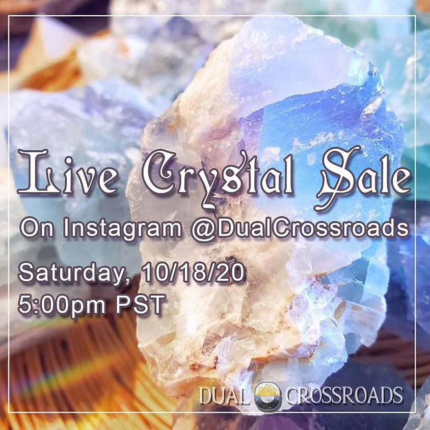 Live Crystal Sale on Instagram!